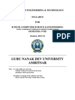 Btech Computer Science and Engg Semester i to Viii Syllabus