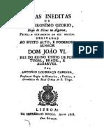 Obras inéditas de D. Jerónimo Osório