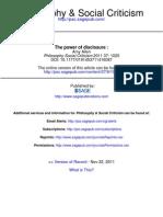 Allen -  The power of disclosure- Comments on Nikolas Kompridis' Critique and Disclosure