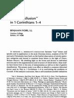 1 Cor 1-4 - Covert Allusion