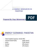 Renewable Energy Resources in Pakistan