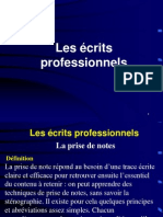 écrits professionnels.ppt