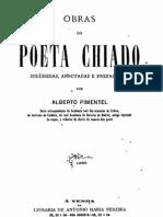 Obras Do Poeta Chiado coligidas por Alberto Pimentel