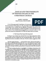 1 Cor 4.6 - Written Bylaws in Church