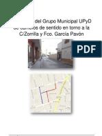 Propuesta de Cambios de Sentido en Calle Zorrilla