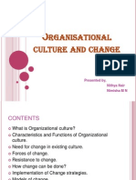 Organisational Culture and Change