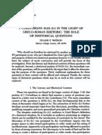 1 Cor 10.23-11.1 - Role of Rhetorical Questions