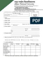 Phd Form