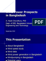 Prospects of Wind Energy in Bangladesh Dr. Abdul Hasib Chowdhury Bangladesh University of Engineering and Technology