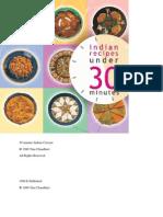 30 Minutes Indian Recipes