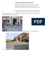 BKW Elementary School Fire Drill Master Plan