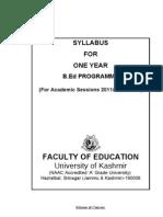 Revised B.ed Syllaus-2011-Kashmir University