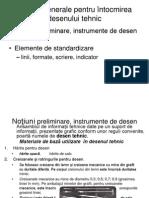 Norme generale pentru întocmirea desenului tehnic