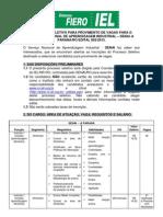Processo Seletivo SENAI JIPA 002.13