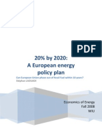 20% by 2020 - A European Energy Policy Plan (Stéphan Laouadi)