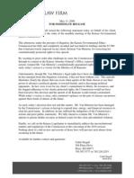 Stegall Press Release 5.13.09