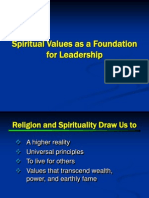 3 Spiritual Values as a Foundation for Leadership 3.27-1