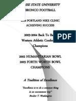 2004 Clinic Talk. Dan Hawkins - Success