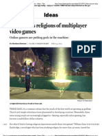 The curious religions of multiplayer video games