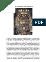 Interior de La Basilica de San Marcos de Venecia s XI