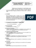 HSEQ-P-09 Manejo de No Conformidades, Acciones Correctivas, Preventivas y de Mejora