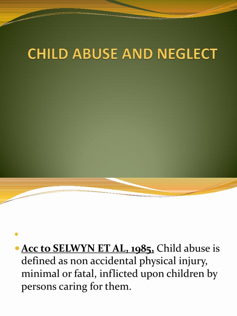 child abuse and neglect | child neglect | child abuse