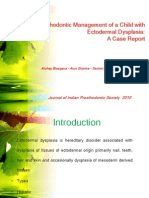 Prosthodontic Management of a Child With Ectodermal Dysplasia