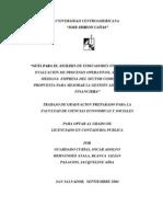 Guia para análisis de indicadores financieros y evaluación de procesos operativos