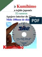 Disco Redondo Para Tejercordones