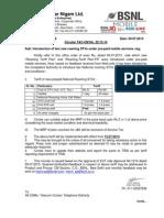 New Prepaid Plans ROAMING BSNL
