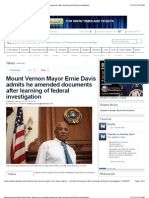 Mount Vernon Mayor Ernie Davis Admits He Amended Documents After Learning of Federal Investigation