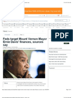 Feds Target Mount Vernon Mayor Ernie Davis' Finances, Sources Say