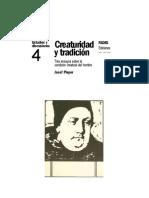 Creaturidad y tradición (2)