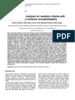 Retrospectıve analysıs for newborn ınfants wıth HIE