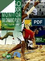 Boletin Curso de Entrenador Monitor de Balonmano Playa
