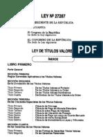 Ley de Titulos Valores N° 27287