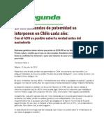 10 mil demandas de paternidad se interponen en Chile cada año