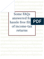 Some FAQs answered for hassle free filing of income