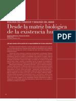 Matriz Biologica Existencia Humana Maturana