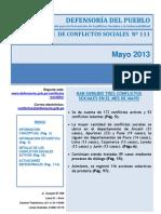 conflictos sociales meayo 2013