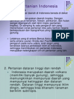 Ciri Pertanian Indonesia