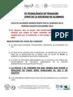 Subsidio Ago 2013