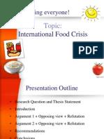 International Food Crisis