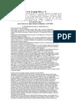 2013-d.p.r.16 Aprile n. 74 Regolamento d.lgvo 192--2005