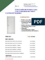 Puerta Lisa Prelacada Blanca