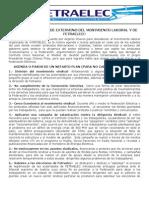 Comunicado Fetraelec 01 de Julio de 2013