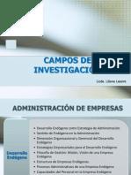 CAMPOS DE INVESTIGACIÓN
