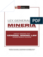 Peruvian General Mining Law Mining Entrepreneurs Association Peuqueños