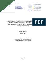 89033508 Alimentatie Publica Programa Titularizare 2010 M