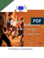 European Audiences - Conclusions Conference